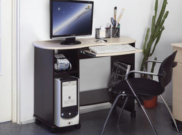 Стол компьютерный КОСТЁР-3. (венге/ПВХ клён Азия)