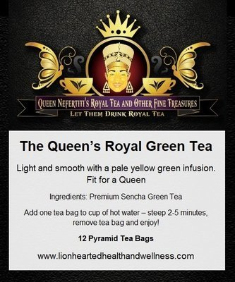 THE QUEEN'S ROYAL GREEN TEA  (IN SACHETS)
