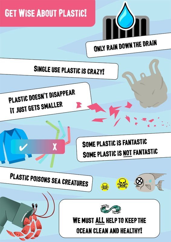 Poster: Get Wise About Plastic (A3 size only)