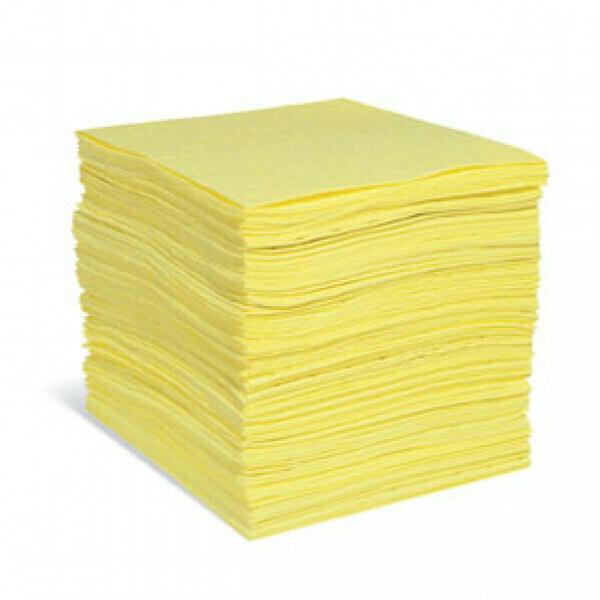Feuilles absorbantes pour produits chimiques PIG® Essentials Pro - Triple Épaisseur