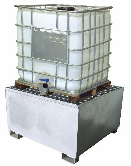 Bac de rétention compact 1 IBC • Acier