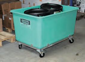 Bacs rectangulaires rigides PFV sur roulettes de 100 à 2200 litres
