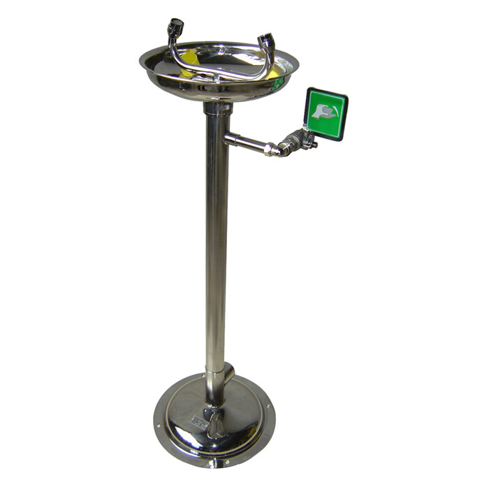Laveur d'yeux de sécurité sur pied à commande manuelle – 100% Inox