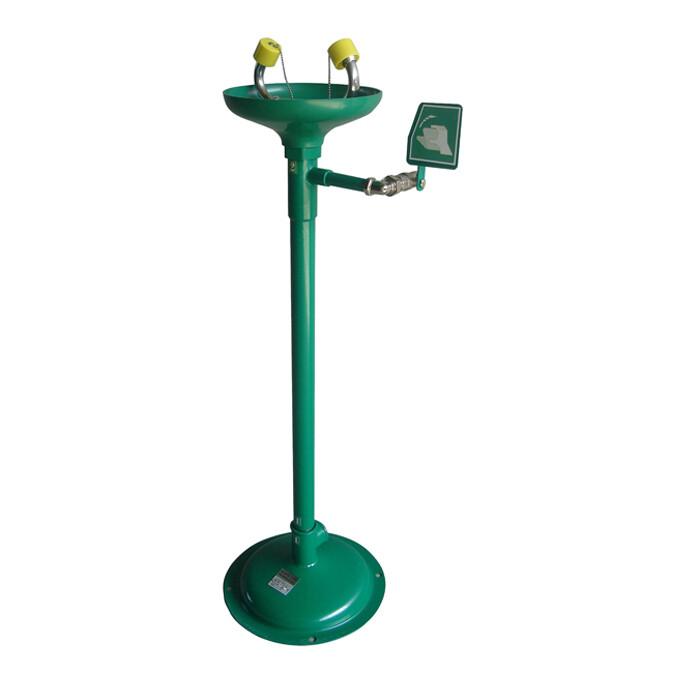 Laveur d'yeux de sécurité sur pied à commande manuelle – Vasque en ABS