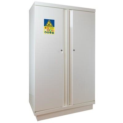 Armoire Stockage Batterie Lithium - Haute - 2 portes avec extincteur