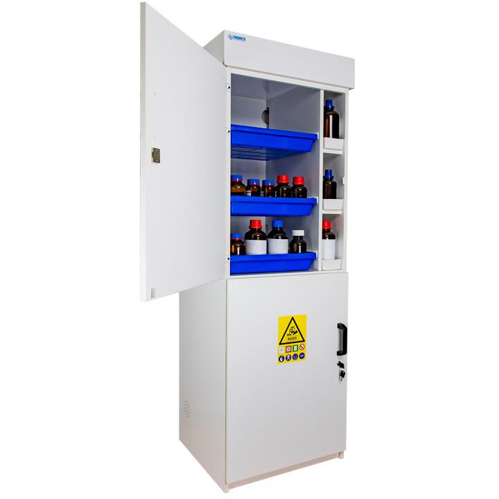Armoire de sécurité (PVC) pour acides et bases - Haute 2 portes battantes