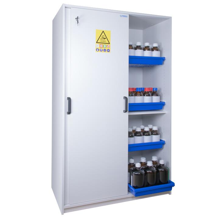 Armoire de sécurité (Mélaminé) pour acides et bases - Haute 2 portes coulissantes