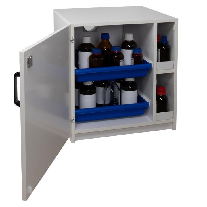 Armoire de sécurité (PVC) pour acides et bases - Sous-paillasse 1 porte battante