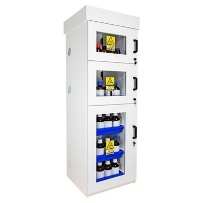 Armoire de sécurité (PVC)pour acides et bases - Haute 3 portes battantes