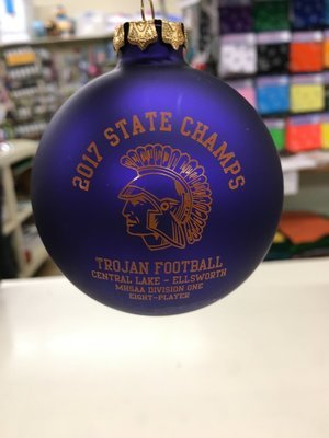 TROJAN 2017 STATE CHAMPIONS CHRISTMAS ORNAMENT