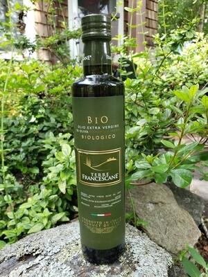 Terre Francescane ORGANIC Extra Virgin Olive Oil (DOP) - 500Ml - Origin Spoleto, Italy (M)