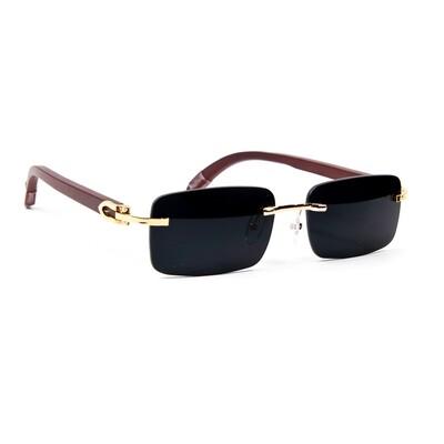 Mens Black Tint Hip Hop Rimless Sunglasses