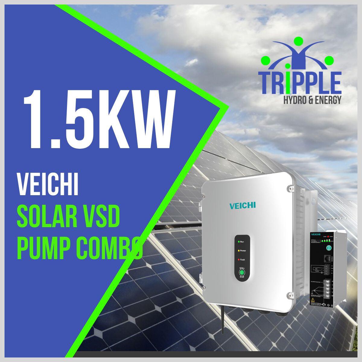 1.5kW Three Phase 220V Solar VSD Conversion Kit