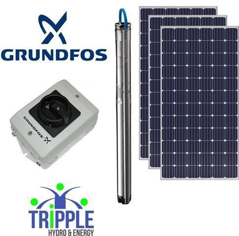 Grundfos Solar Combo4 (100m 10 000L per day)