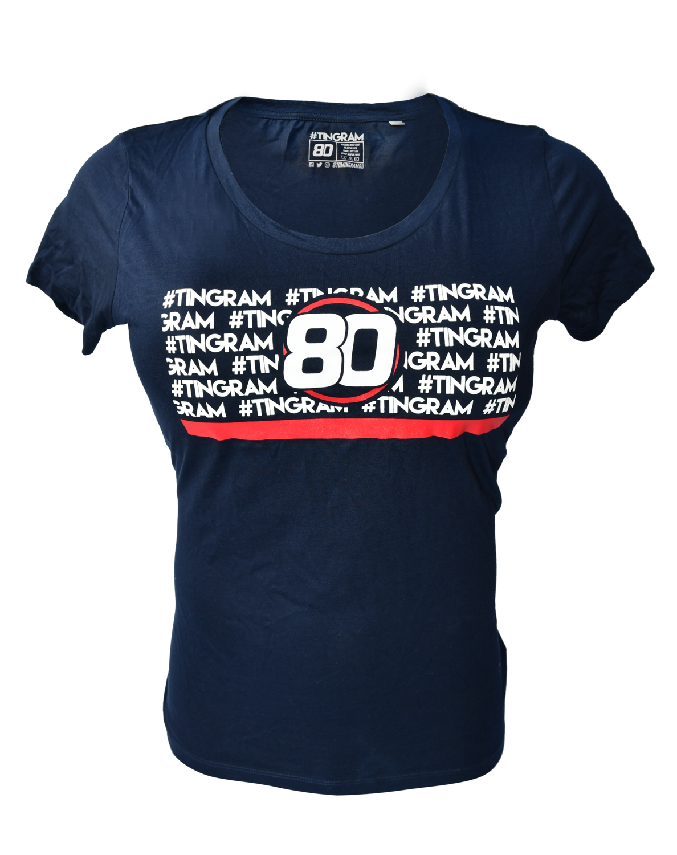 Ladies Block Blue T-shirt