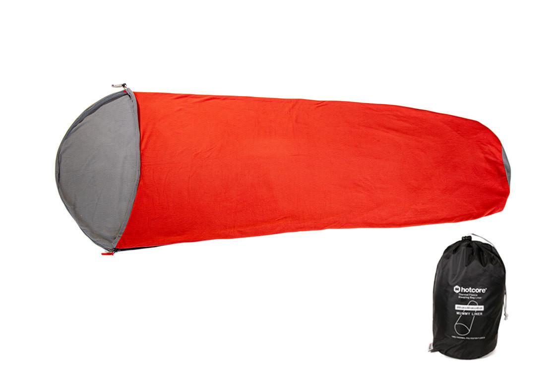 Hotcore Thermal Fleece Sleeping Bag Liners - Mummy & Rectangular