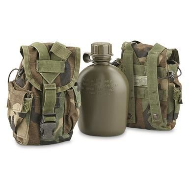 US Army 1 Qt Water Bottle Canteen w/ Molle II pouch