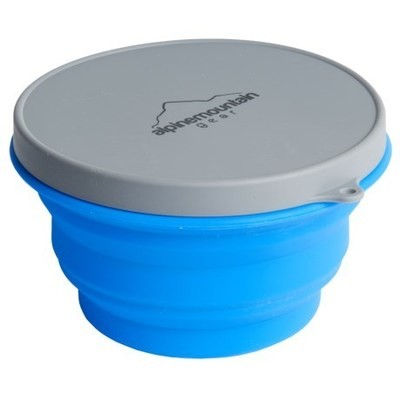 Alpine Mountain Gear Collapsible Silicone Container with Lid - Large, 33 fl.oz.