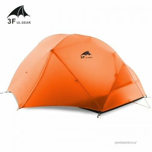 3F UL Gear 2 person Backpacking Tent & Footprint - Silicone Impregnated Nylon