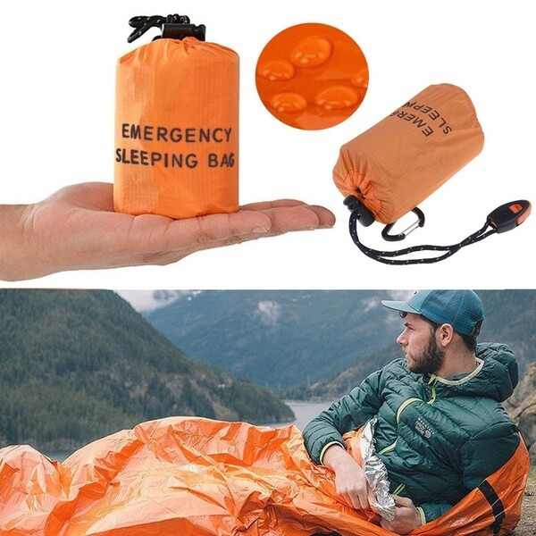 Emergency Bivy/Sleeping Bag with Survival Whistle