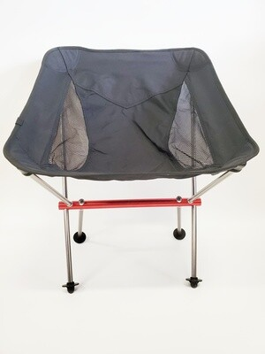 Aluminum Alloy Folding Camp Chair (Black)