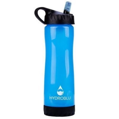 HydroBlu Clear Flow Squeeze Water Bottle/Filter Combo