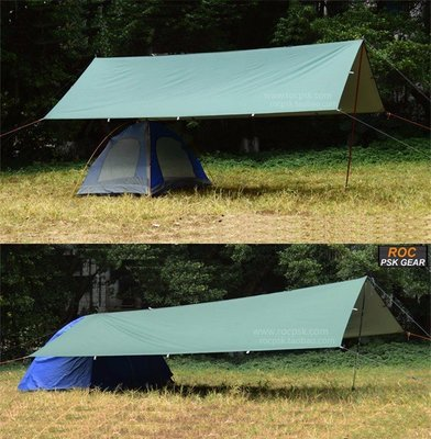 3FUL Gear 210T Poly Tarp - Silver/reflective coated underside