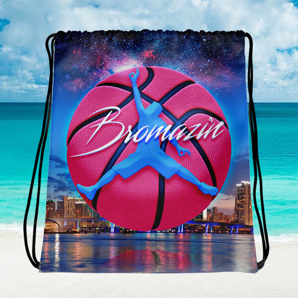 JUMPBRO MIAMI BBALL - BROMAZIN Drawstring bag