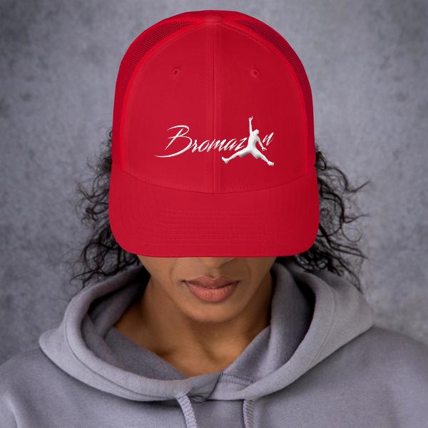 BROMAZIN Red Trucker Cap