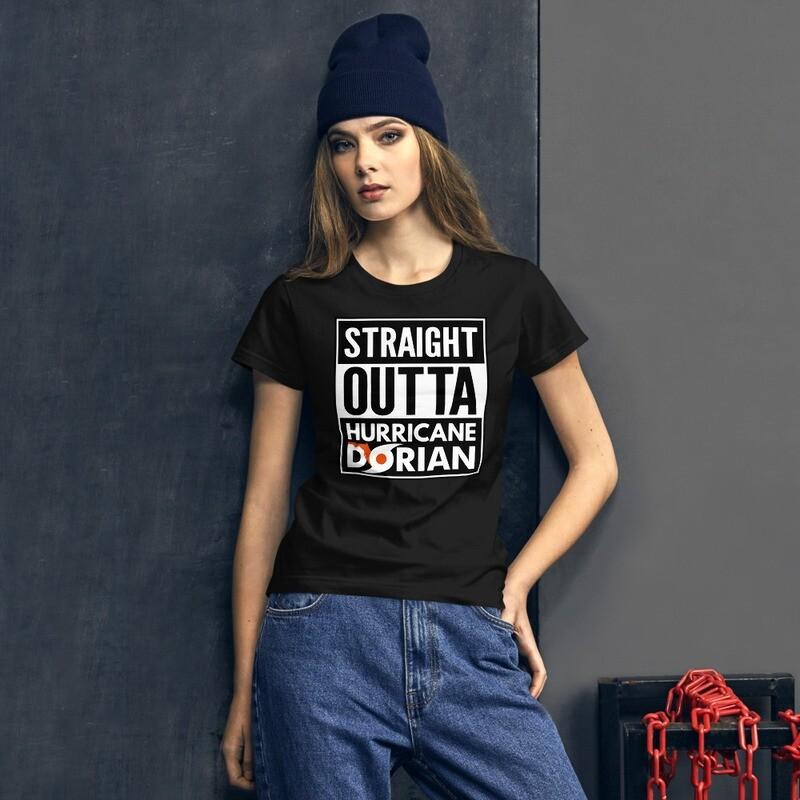 STRAIGHT OUTTA HURRICANE DORIAN - Women's short sleeve t-shirt
