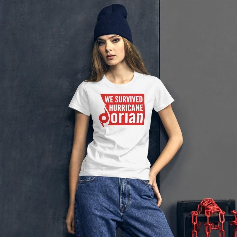 WE SURVIVED HURRICANE DORIAN - Women's short sleeve t-shirt