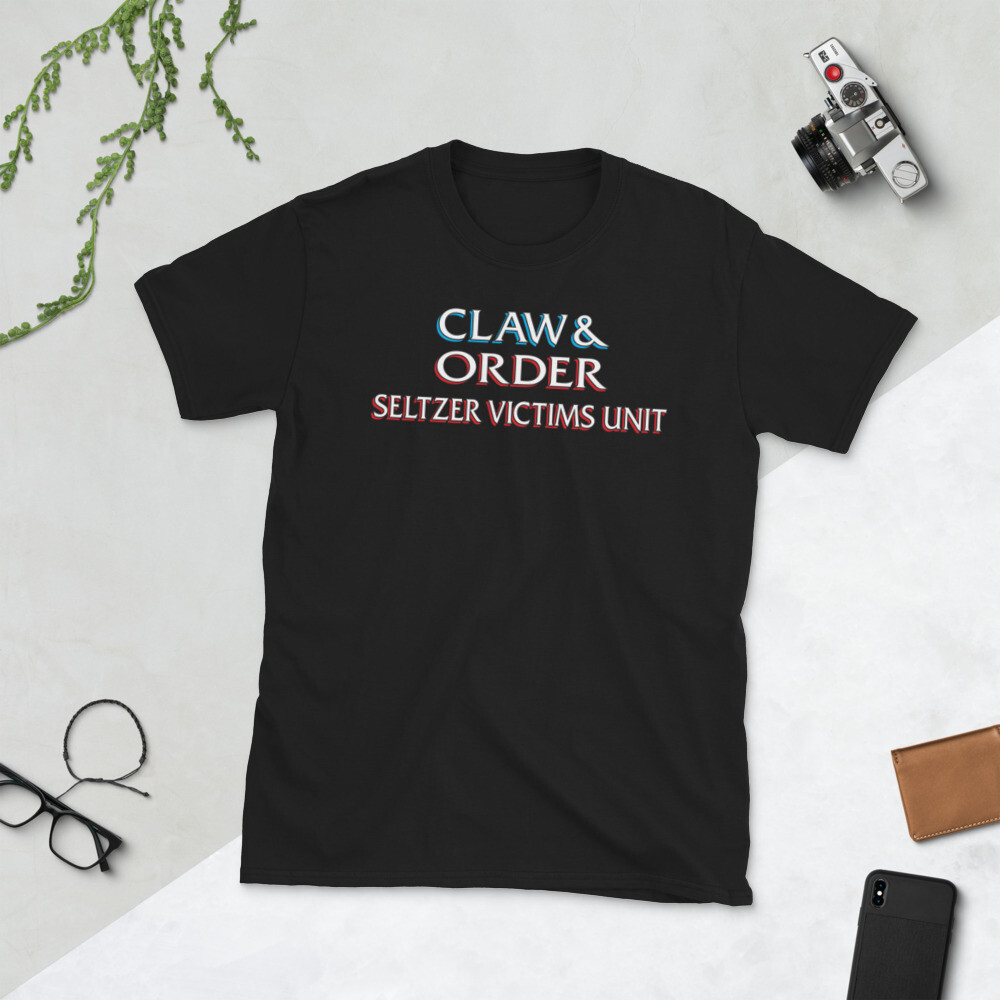 CLAW & ORDER SELTZER VICTIMS UNIT Short-Sleeve Unisex T-Shirt