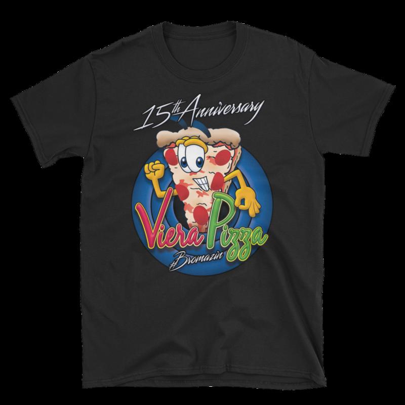 VIERA PIZZA'S 15th ANNIVERSARY JOEY PIZZA JOEMAZIN - BROMAZIN Short-Sleeve Unisex T-Shirt