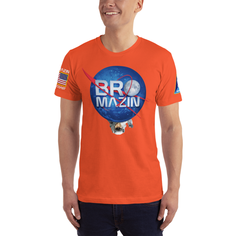 NATIONAL AWESOME and BROMAZIN ADMINISTRATION - NASA ORANGE T-Shirt
