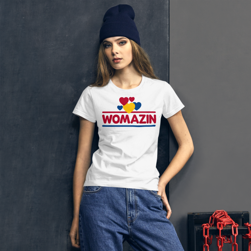 WOMAZIN - WONDER BREAD Women's short sleeve t-shirt