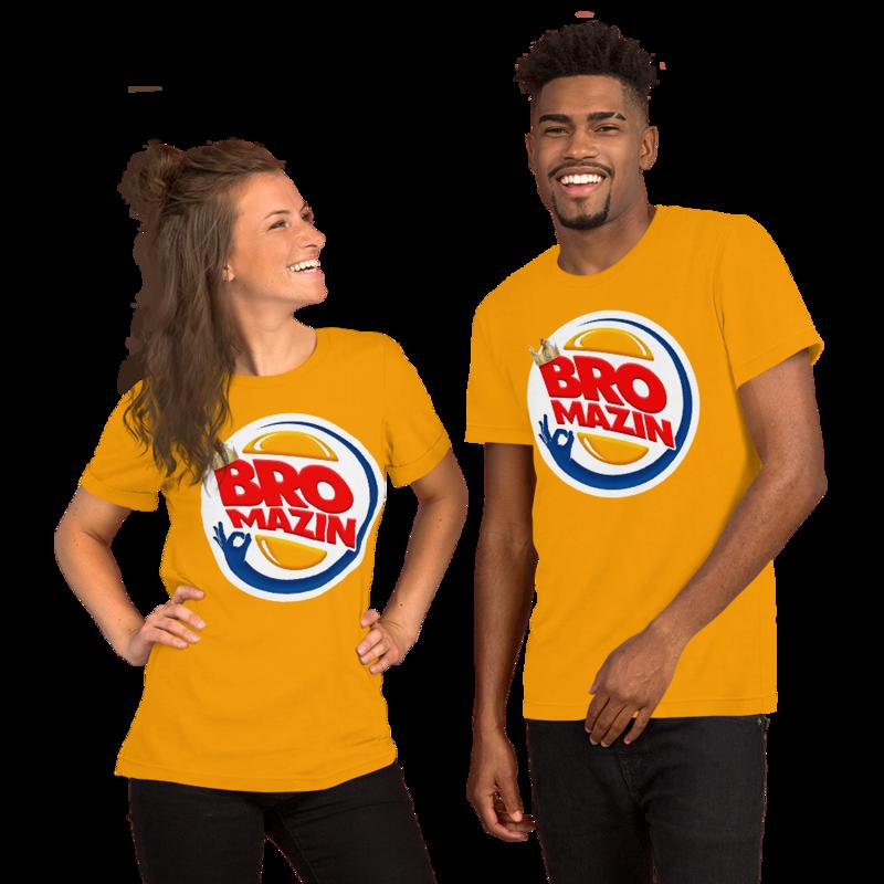 BRO KING - BROMAZIN BURGER KING Short-Sleeve Unisex T-Shirt