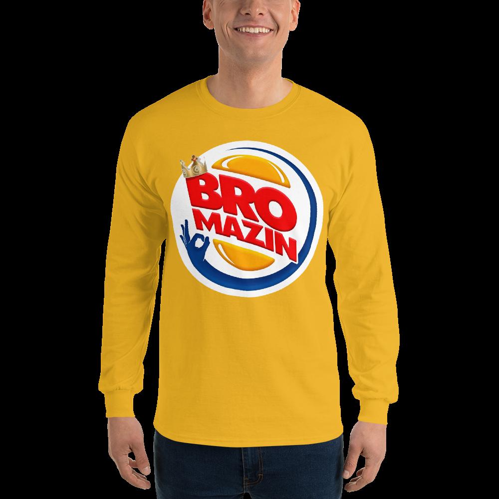 BRO KING - BROMAZIN BURGER KING Men's Long Sleeve Shirt