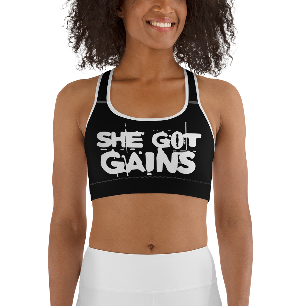 SHE GOT GAINS - WOMAZIN Sports bra