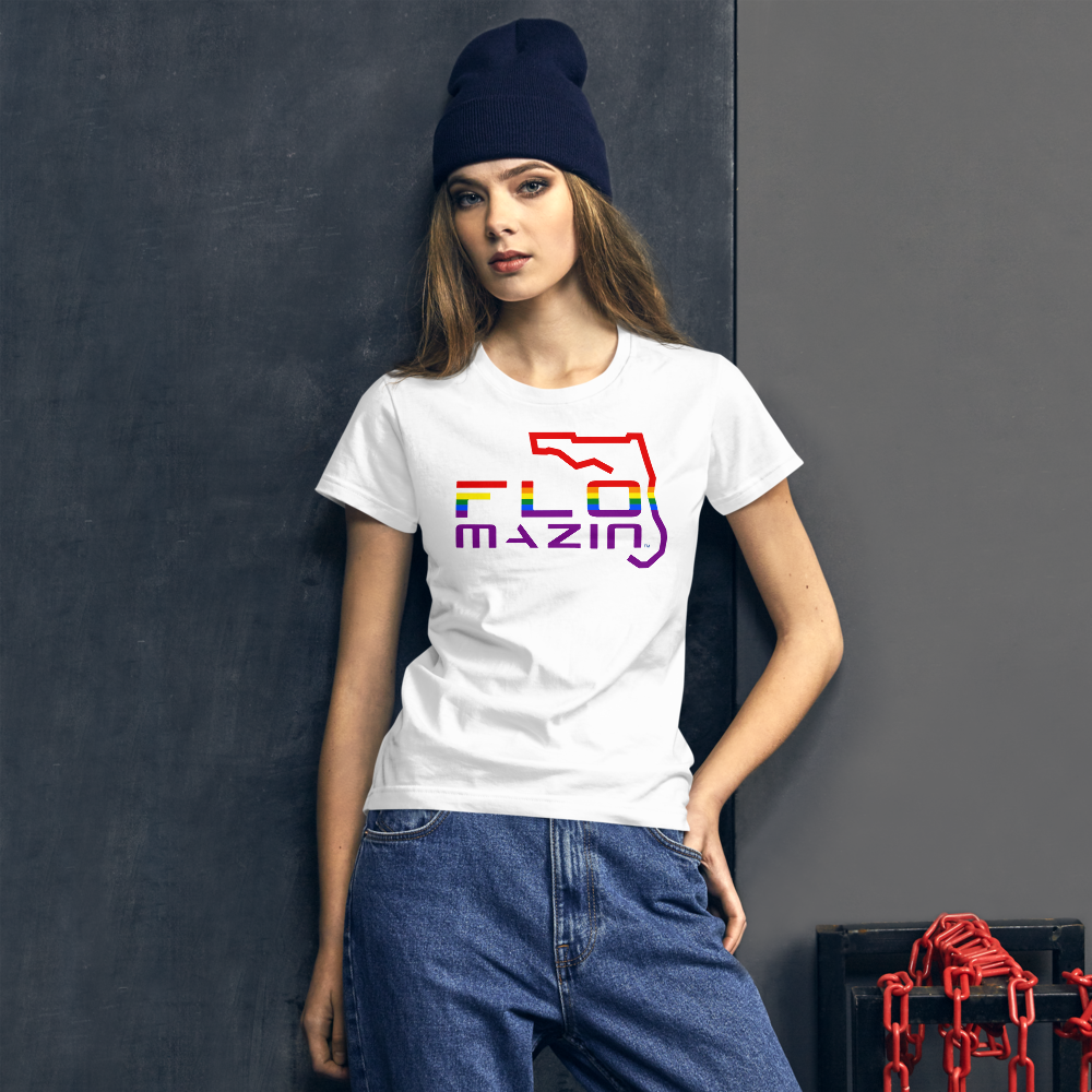 FLOMAZIN FLORIDA LGBTQ PRIDE Women's short sleeve t-shirt