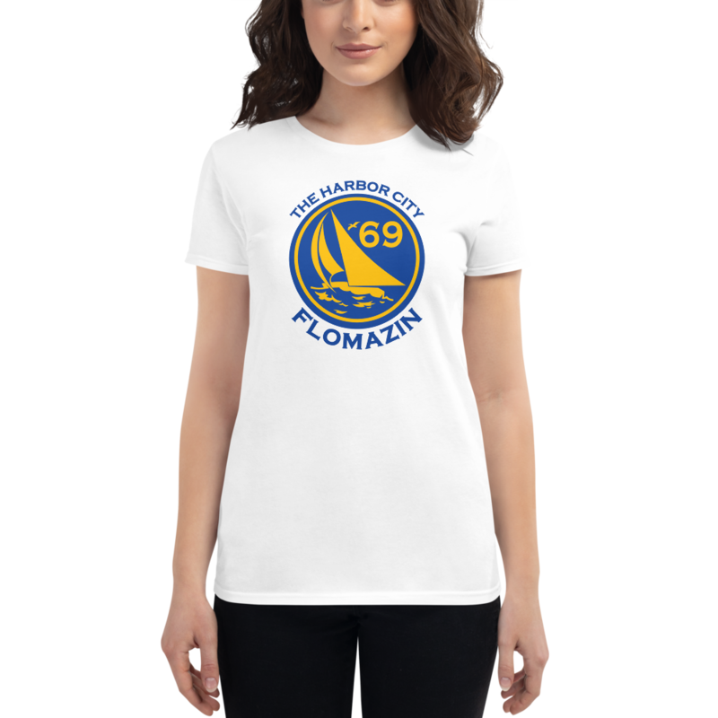 FLOMAZIN THE HARBOR CITY, MELBOURNE, FL 1969 Women's short sleeve t-shirt