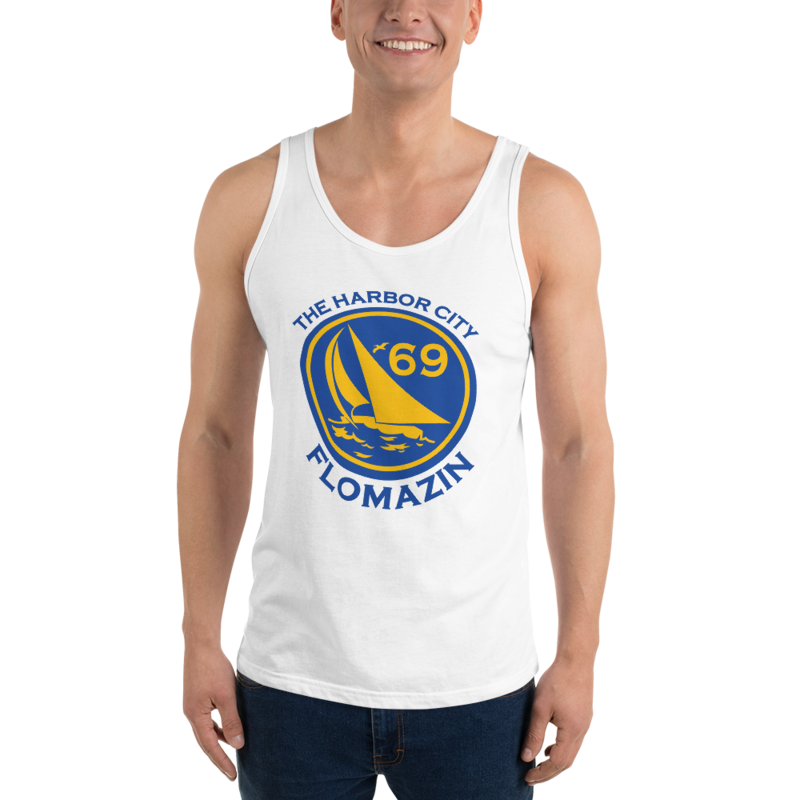 FLOMAZIN THE HARBOR CITY, MELBOURNE, FL 1969 Unisex Tank Top