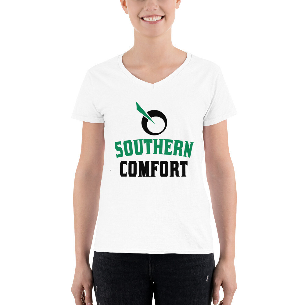 SEATTLE GENETICS SOUTHERN COMFORT Women's Casual V-Neck Shirt