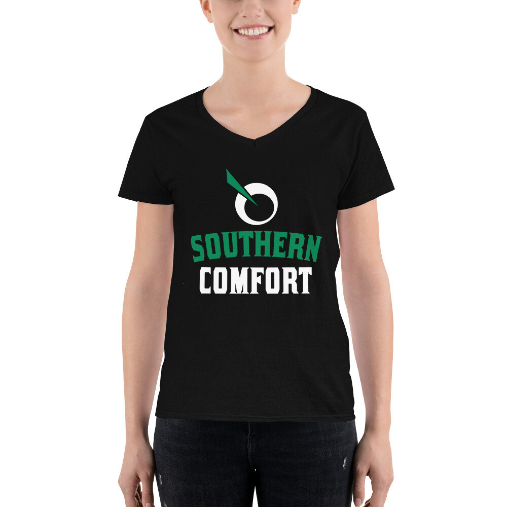 SEATTLE GENETICS SOUTHERN COMFORT Women's Casual V-Neck Shirt