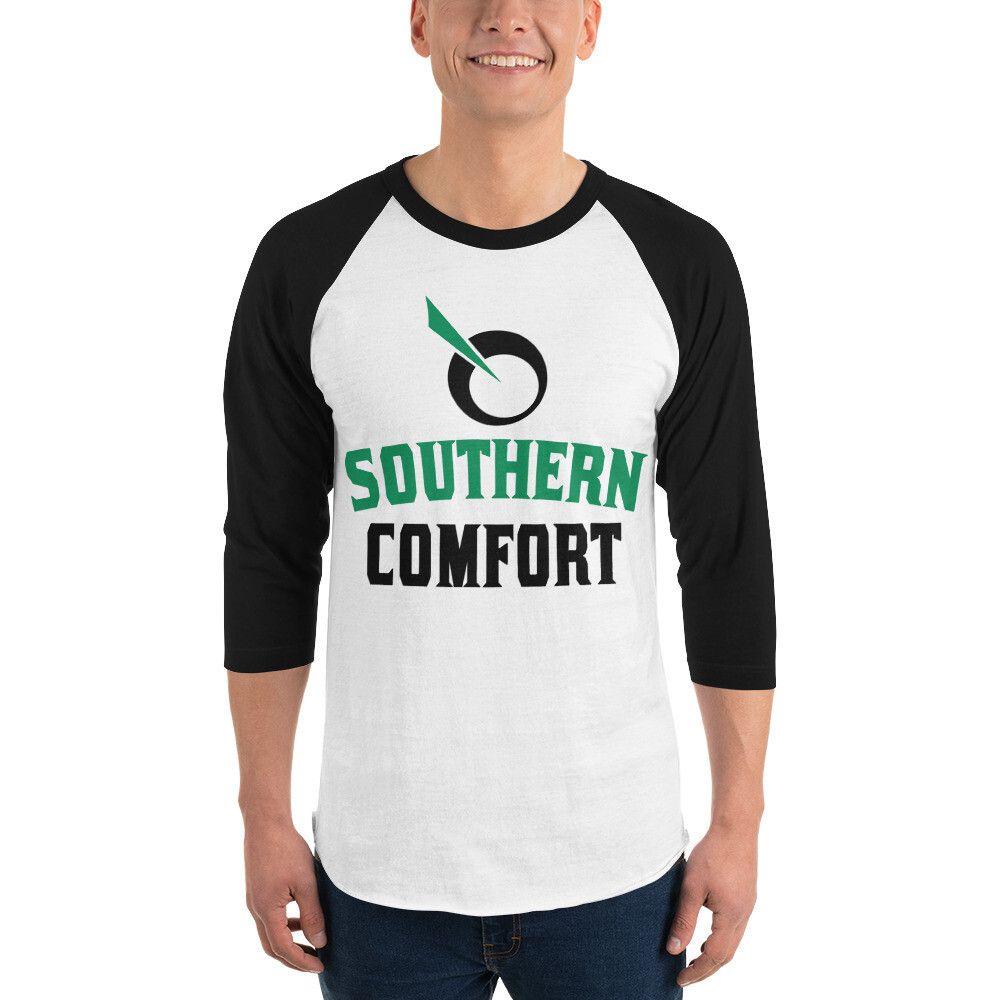SEATTLE GENETICS SOUTHERN COMFORT 3/4 sleeve raglan shirt