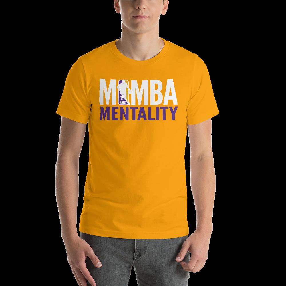 KOBE BRYANT NBA LOGO - MAMBA MENTALITY - BLACK MAMBA Short-Sleeve Unisex T-Shirt