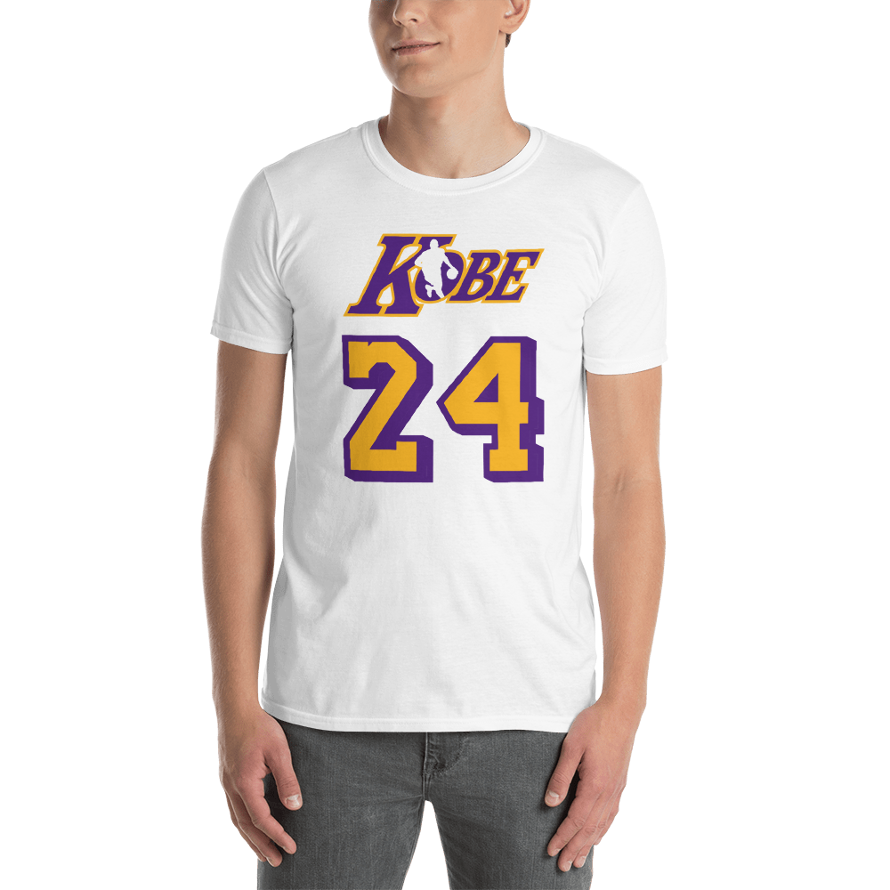 KOBE BRYANT NBA LOGO - MAMBA MENTALITY - BLACK MAMBA - 24 Short-Sleeve Unisex T-Shirt