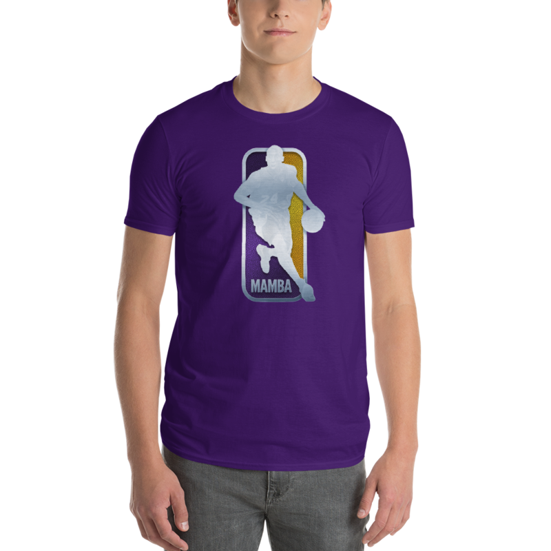 KOBE BRYANT NBA LOGO - MAMBA MENTALITY - BLACK MAMBA Short-Sleeve T-Shirt