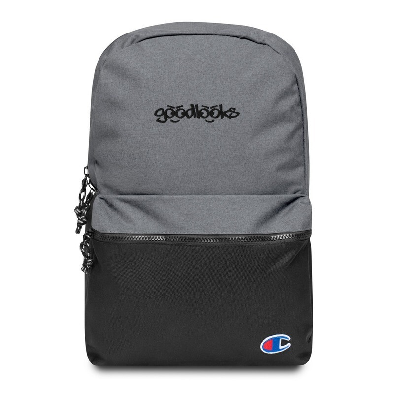 GOOD LOOKS Embroidered Champion Backpack