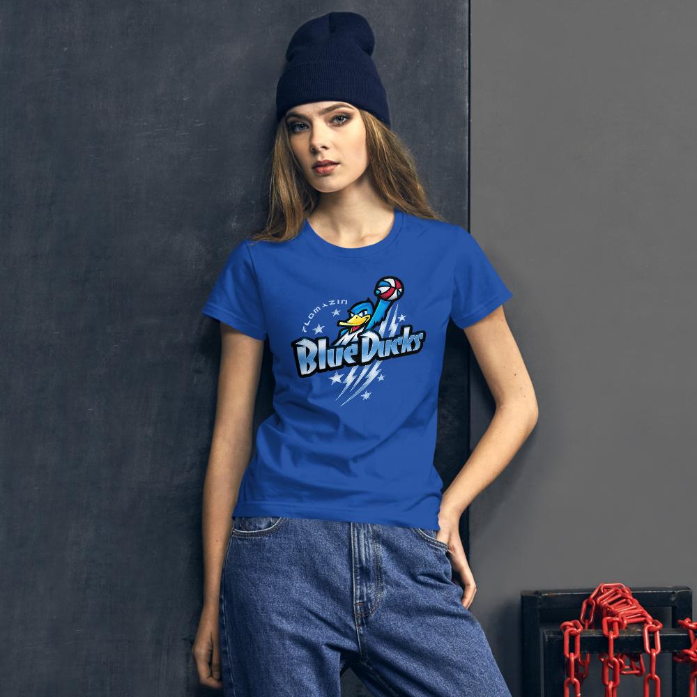 FLOMAZIN BREVARD BLUE DUCKS Women's short sleeve t-shirt