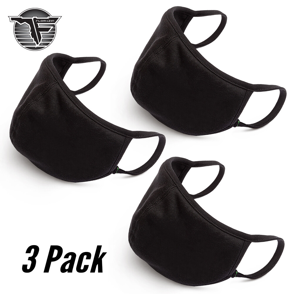 FLOMAZIN Silverplus® Technology Face Mask (3-Pack) | Face Cover | Social Distance | Anti Dust Cotton Adult Mask | Indoor Outdoor Use